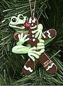 Kitty's Critters Frog Ornament: Yummy