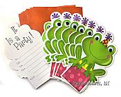 Frog Shaped Googley Eyed Invitations (8)