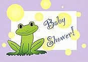 Frog Baby Shower Invitations, pk/8