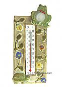 Frog & Turtle Ceramic Thermometer
