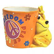 Peace Frogs: Freedom Peace & Love Mug