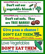 Protect Every Vegetable Bumper Sticker Set