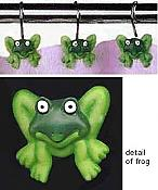 Frog Shower Curtain Hooks