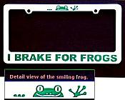Frogs License Plate Frame