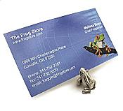 Pewter Frog Card Holder
