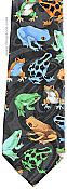 Colorful Dart Frogs Necktie