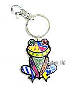 Colorful Enamel Frog Keychain