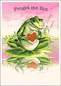 """Froget Me Not"" Frog Love Card"