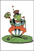 Victorian Gentleman Frog Thank-You Card