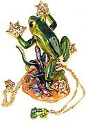 Flying Frog Jewel Box with necklace