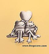 Frogs in Love Clutch Pin