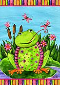 Frog & Dragonflies House Flag