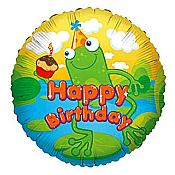 "Hoppin' Frog ""Happy Birthday"" Balloon"