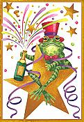 """Happy New Year"" Frog Card"