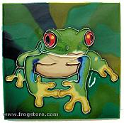 Large Red-Eyed Treefrog Art Tile
