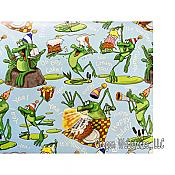 """Happy Happy Birthday"" Frog Gift Wrap"