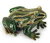 Large Crystal-Striped Frog Jewel Box