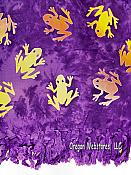 Purple Frogs Sarong