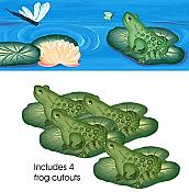 Lilypad Frog Wall Border + Cutouts