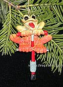 Kitty's Critters Frog Ornament: Hopper