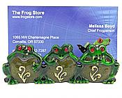 No Evils Frog Card Holder