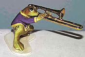 Porcelain Miniature: Trombone Frog
