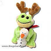 "Small ""Frabbit"" Reindeer Frog w/ Snowman"