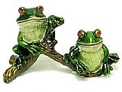 Two-Frogs on Branch Jewel Box