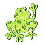 Waving Frog Iron-On