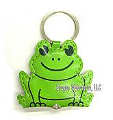 Light-Up Leatherette Frog Key Ring