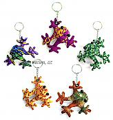 Fabric Frog Keychain - (ABCDEF)