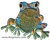 Colorful Sitting Frog Iron-On