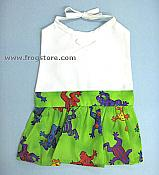 Corporate Style Girls Dress Frog Baby Bib