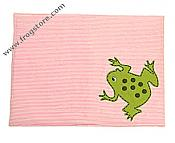 Pink Striped Frog Place Mat