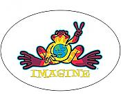 "Peace Frogs: ""Imagine"" Window Cling Decal"