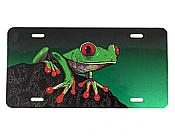 Red Eyed Treefrog License Plate w/Green