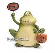Boo Frog Halloween Figurine