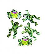 Prismatic Leaping Frog Stickers