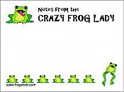 """Crazy Frog Lady"" Sticky Notes"