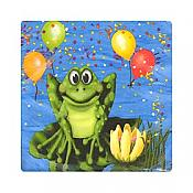 Frog Swamp Party Small Napkins, pk/16