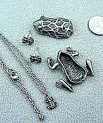 Pewter Frog Box w/Necklace & Earrings