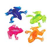 Bright Colored Sticky Stretchy Frogs (12)