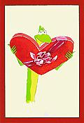 """My Heart Leaps for You"" Frog Valentine Card"