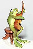 Porcelain Miniature: Guitar Frog