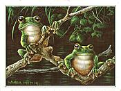 Swamp Treefrogs Birthday Card