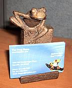 Brass Frog Card Holder