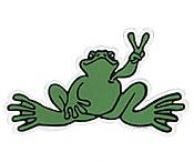 Peace Frogs: Green Peace Sticker (Giant)
