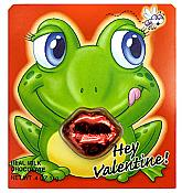 Frog Valentine Card with Chocolate Lips