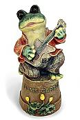 """Mums Garden"" Guitar Frog on Pot"