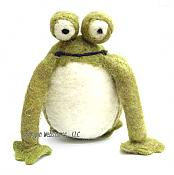 Little Felted Plush Frog